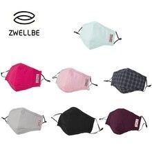 Zwellbe Цветной рот маски 5-ти слойное анти пыли Ветрозащитный хлопковая Футболка с изображением маски для наращивания ресниц модная многоразовая защитная маска для лица