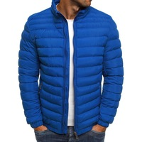 Winter Mens Jackets Winter Boys Clothing Long Sleeve Parka Men Coats Loose Warm Blue Sports Top Hot Sale Windbreaker Overcoat