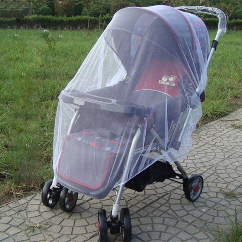 New Newborn Toddler Infant Baby Stroller Crip Netting Pushchair Mosquito Insect Net Safe Mesh Buggy White