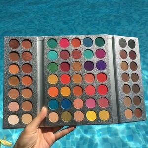 Image 1 - Güzellik sırlı göz farı muhteşem Me göz farı 60/63/72 renk makyaj Glitter mat paleti büyüleyici göz farı pigmentli göz farı
