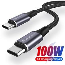 PD 100W USB C vers USB Type C câble pour Xiaomi Redmi Note 8 Pro Charge rapide 4.0 Charge rapide pour MacBook Pro câble de données cordon
