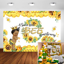 Sweet Bee Baby Shower Backdrop A Little Bee Boy Baby Shower Honey Bumble Bee Sunflower Party Decoration Background Photography bumble bee chunk light tuna in water