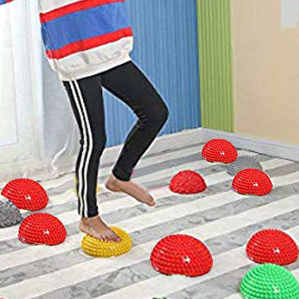 Kids Inflation Hemisphere Durian Foot Sole Muscle Stress Relief Massage Ball Toy  For Gym Sport Fitness