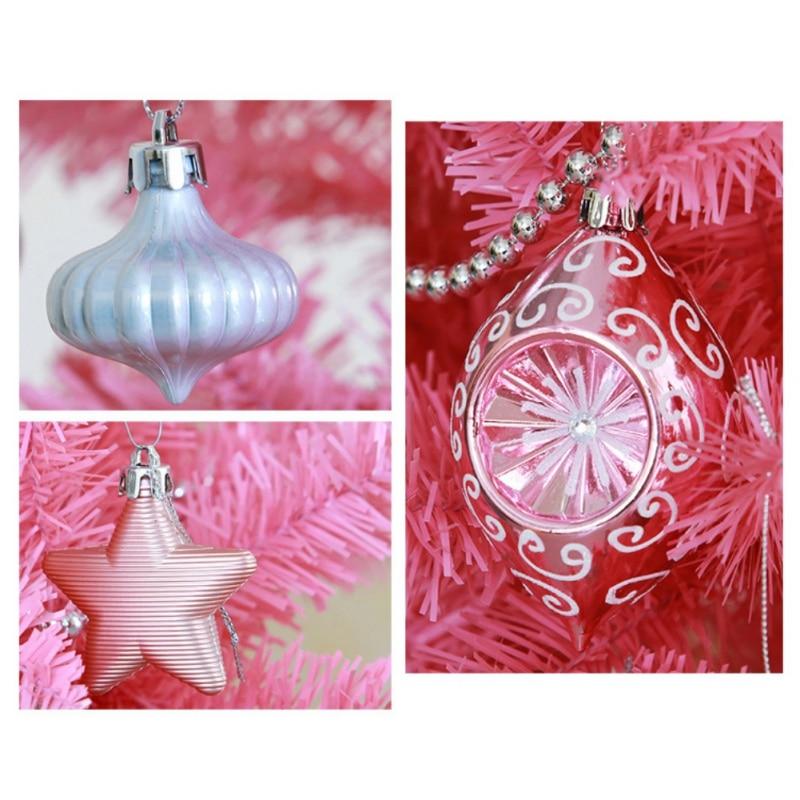 90 unids/set adornos de bolas de Navidad surtidos a prueba de golpes decoraciones de fiesta de Navidad adornos de árbol de Navidad colgantes - 3