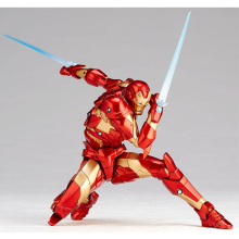 цены 18cm Avengers Infinity War Iron Man PVC Action Figure Toys iron man MK37 blood side armor Collection Model Toy gift For children