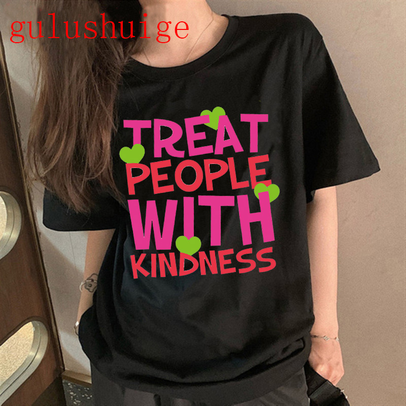 Harry Styles merch Harajuku Graphic Tshirt Women Fine Line Aesthetic Ullzang T-shirt Treat People with Kindness T Shirt Top Tee