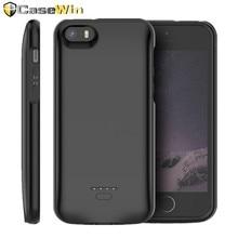 CASEWIN chargeur de batterie étui pour iPhone 5 5S SE 5SE couverture 4000mAh chargeur Powerbank étui pour iPhone 5 6 7 8 X XR batterie étui