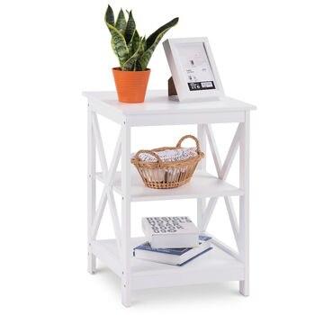 Simple White Nordic Nightstand Bedroom Departments Nightstands Rooms