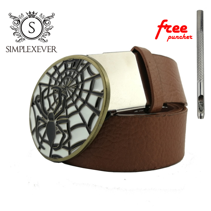 Cowboy Spider Belt Buckle Fashion Animal Alloy Belt Buckles for 4cm Wide Belt Men Jeans Accessories