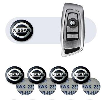 for nissan x trail qashqai tiida key case cover key shell storage bag saver car key remote control protective holder case teana 5pcs 14mm Car Emblem Remote Control Key Badge Sticker for Nissan Nismo X-trail Almera Qashqai Tiida Teana Car Accessories