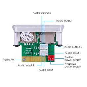Image 4 - KEBIDU 5V 12V Car MP3 Player Decoder Board Audio Module Wireless FM Receiver Radio WMA FM TF USB 3.5mm AUX For Car accessories