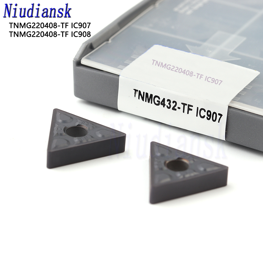 10pcs TNMG220408-TF IC907 TNMG432-TF CNC Carbide Insert Cutter Set For Steel