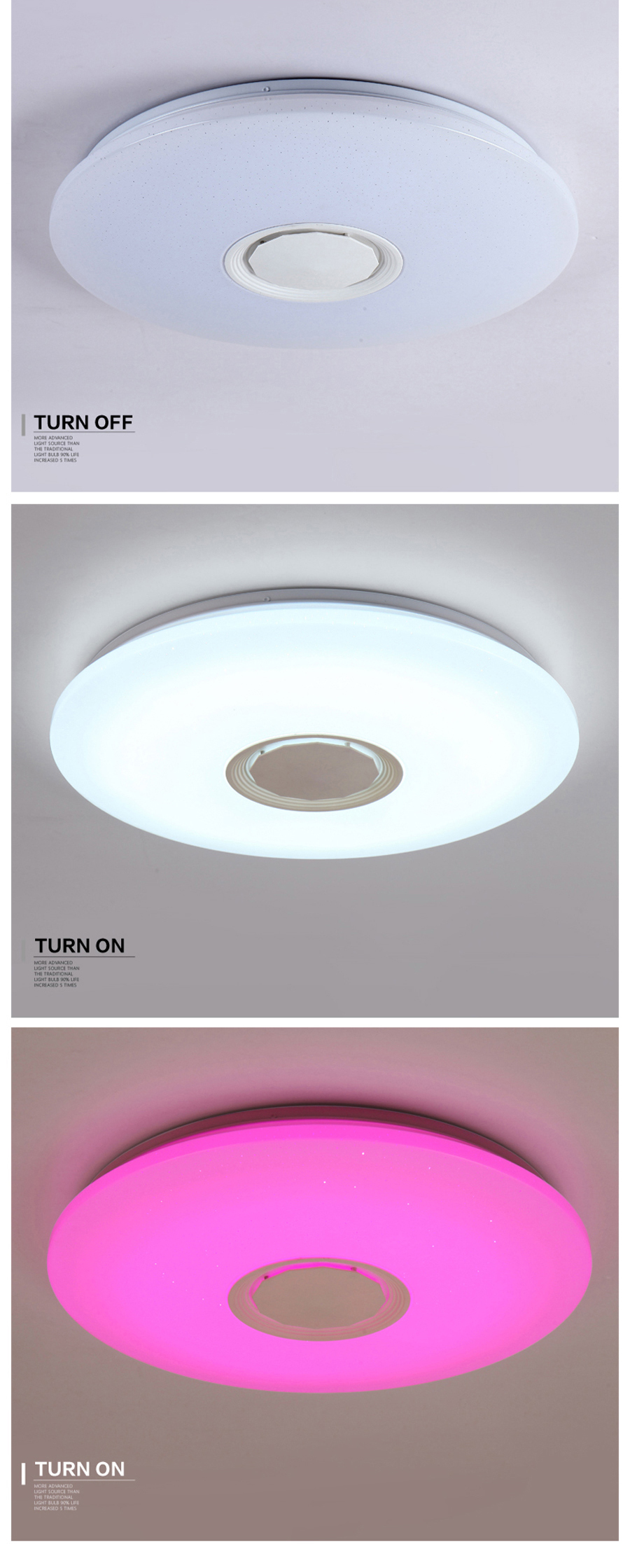 H912a523190be477bacf4b2588a624308L Music LED ceiling Lights RGB APP and Remote control ceiling lamp bedroom 25W 36W 52W living room light lampara de techo