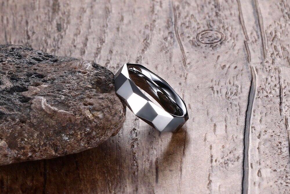 Men Tungsten carbide Rings silver 110