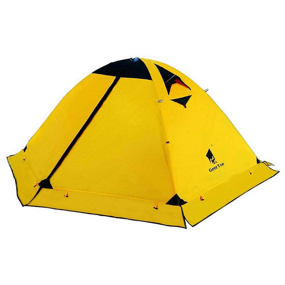 GeerTop Two Person 4 Season Outdoor Camping Tent with Mosquito Net Ultralight Folding Hiking Tents Tourist