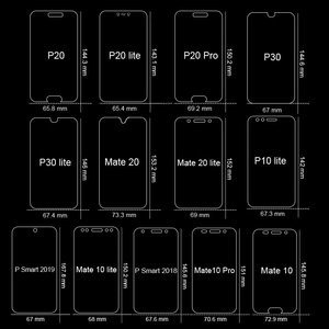 Image 3 - Full Cover Tempered Glass For Huawei P40 P30 Lite P20 Pro P Smart 2019 Screen Protector Protective Glass For Huawei Mate 30 20