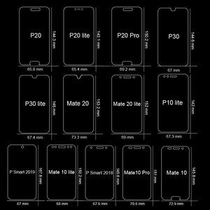 Image 3 - Tam kapak temperli cam için Huawei P40 P30 Lite P20 Pro P akıllı 2019 ekran koruyucu koruyucu cam için Huawei mate 30 20