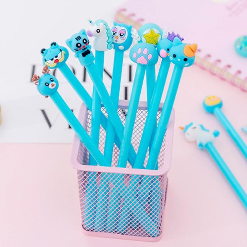 1pcs Cub Neutral Pen 0.5mm Unicorn Cute Pen Student Cute Gel Pens Novelty Stationery Kawaii Writing Pens Kawaii School Supplies