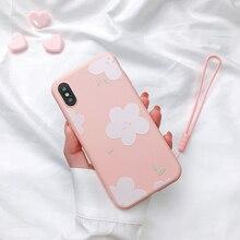 Liquid Silicone Case For iPhone 11 Pro XR X XS Max Cute Cartoon Flower Clear Bumper Cover 7 8 6 6s Plus Funda