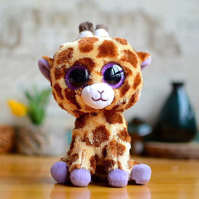 15cm TY śliczne z dużym uchem pluszowe zabawki zwierząt serii miękkie lalki duże oczy wypchane zwierzę lalki zabawki dla dzieci lis pies jednorożec