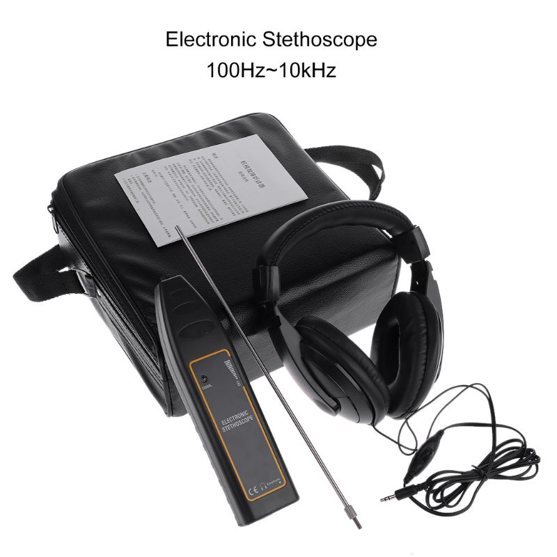 OOTDTY Water Leak Detector Water Tank Pipe Electronic Stethoscope Car Noise Diagnostic