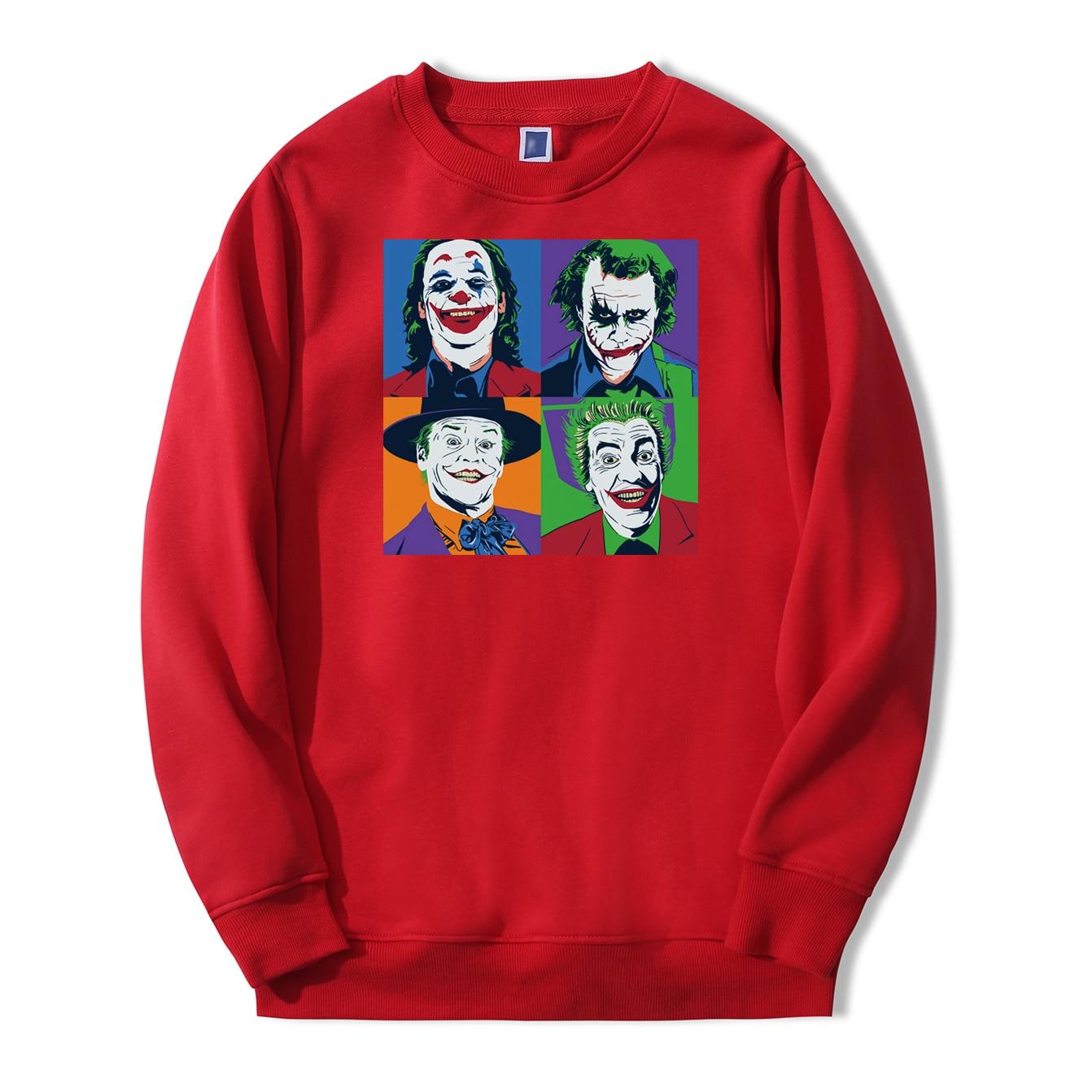 Joaquin Phoenix Joker Men Sweatshirts Hoodies 2019 Autumn Winter Pullovers Warm Fleece Hoodie Heath Ledger Joker New Sportswear