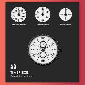 Image 5 - Relojes deportivos, relojes de relajación con cronografo para hombres, reloj impermeable 30m, reloj SINOBI para hombre, reloj cronografo deportivo con envío gratis