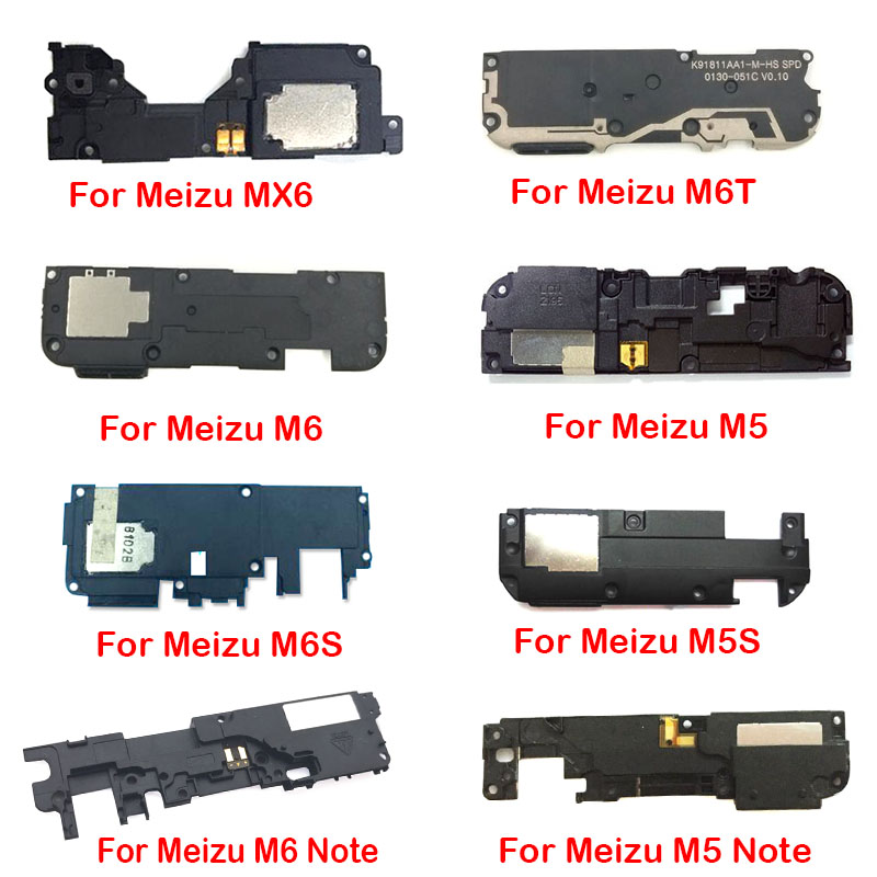 Loudspeaker For Meizu M3S M5S M6S M6T MX6 Pro 6 7 Plus 16X 16th M5 M6 Note Loud Speaker Buzzer Ringer Model Flex Cable