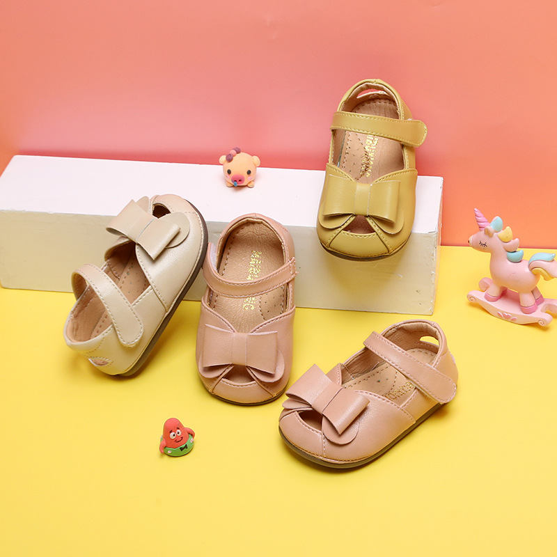 Baby Shoes Bows Spring And Summer 0-2 Years Old Soft Bottom Infant Shoes 1-3 Princess Toddler Shoes