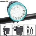 WasaFire 40000lm 16xT6 светодиодный велосипедный светильник  головной светильник для езды на велосипеде  передний светильник s + 9600mah 18650 аккумулятор + ...