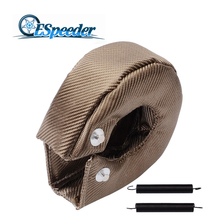 ESPEEDER T3 Titanium Turbo Blanket Heat Shield Turbocharger Cover charger Wrap Fit For T2 T25 T28 GT30 T35