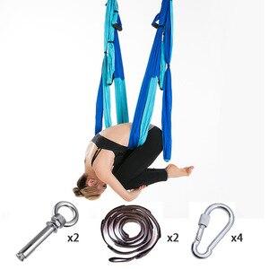 Image 5 - Hamac de Yoga aérien antigravité au plafond, Set complet de 6 poignées, balançoire, trapèze, dispositif dinversion pour gymnastique à domicile