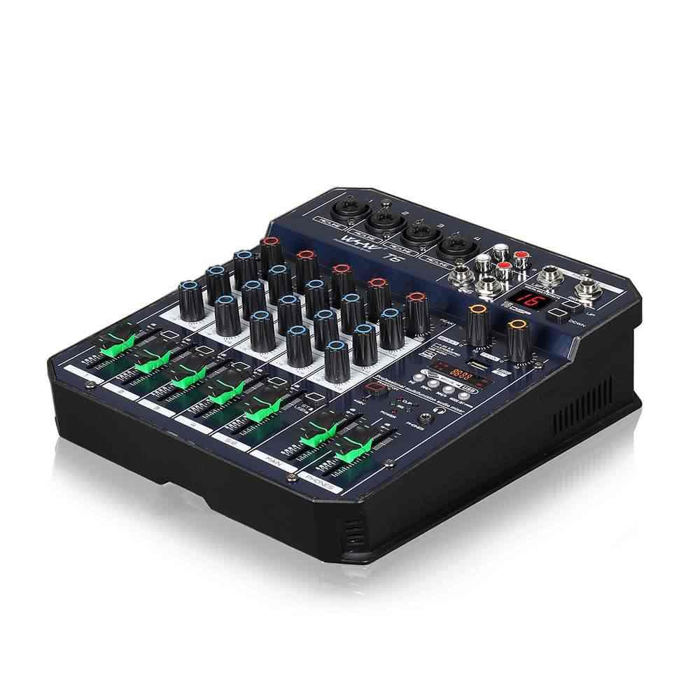 ミニ 2CH 4 チャンネルオーディオサウンド混合 bluetooth ミキサーコンソールサウンドカードデジタルライブ ktv kalaok usb MP3 プレーヤーステレオ記録