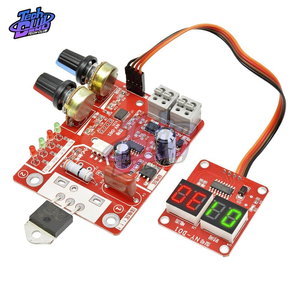 Panneau de contrôle pour Machine à souder par points 40A/100a, carte de contrôle du soudeur, transformateur, ajustez le courant