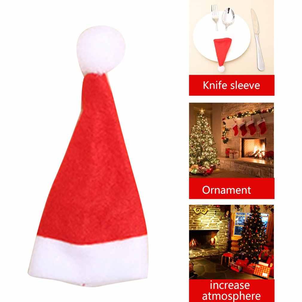 2018 คริสต์มาสตกแต่งรุ่น Q ช้อนส้อมกระเป๋า Creative Home ตารางชุดช้อนส้อมคริสต์มาส Snowman น่ารักชุดช้อนส้อม