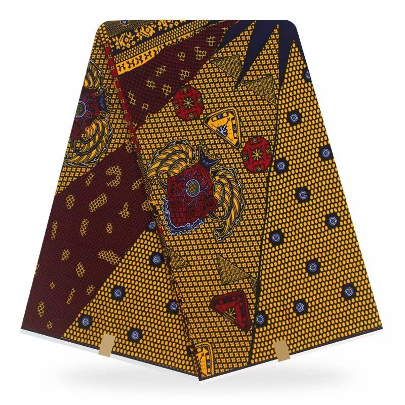 High-Quality Dutch-Wax Pagne African Sewing-Fabric Ankara Veritable 6yards Guaranteed title=