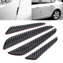 4 sztuk samochodów drzwi uszczelka pasek ochronny ochraniacz zderzaka osłona ochronna Bar Anti-Rub samochodów towarów Crash Blade akcesoria tanie i dobre opinie CN (pochodzenie) 2020 0inch carbon fibre Stylowe listwy Protect car doors and rearview mirrors