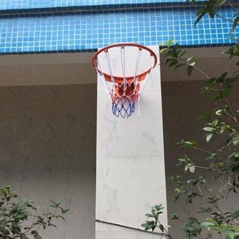 Outdoor Standard Solid Spring Basketball Hoop Outdoor Adult Wall Hanging Basketball Children Basketball Hoop