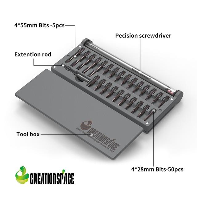 Creationspace CS03B MINI tournevis électrique outils pour la réparation de téléphones mobiles, lunettes, ordinateurs