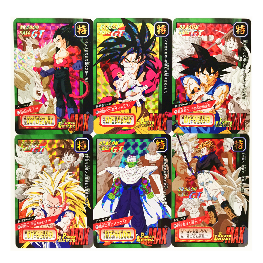 9pcs/set Super Saiyan Dragon Ball Z Heroes Battle Card Ultra Instinct Goku Vegeta Game Collection Cards
