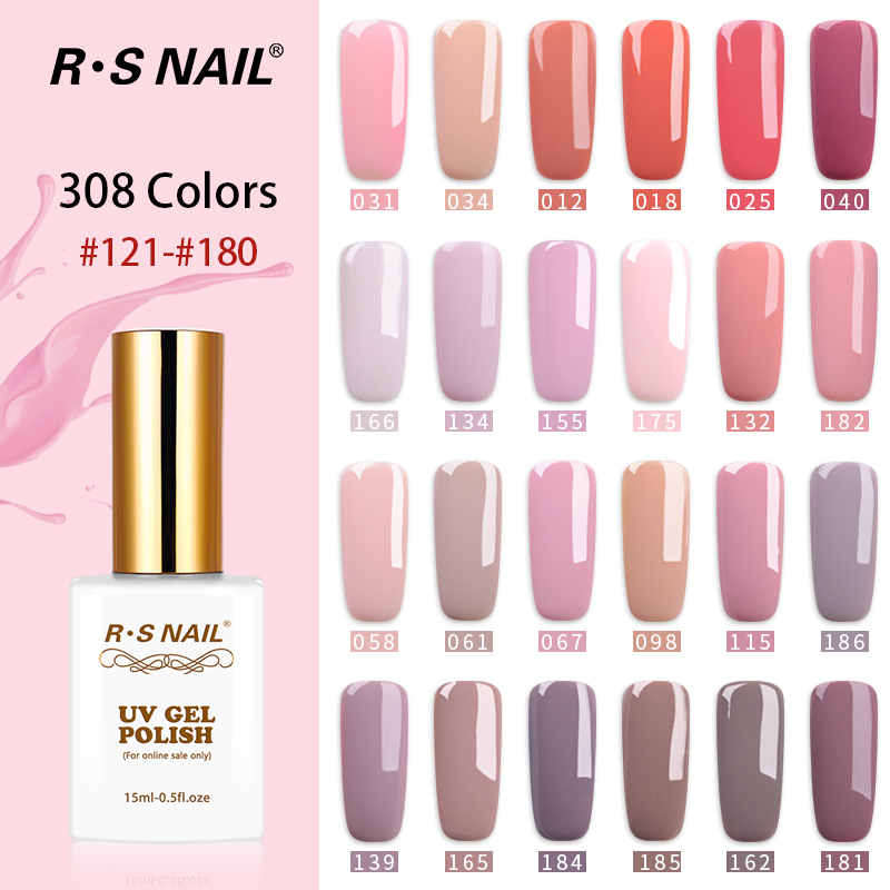 RS NAIL 15ml 308 colors gel nail polish French manicure nail art a set of gel varnishes gel lacquer uv resin unhas de gel (3)