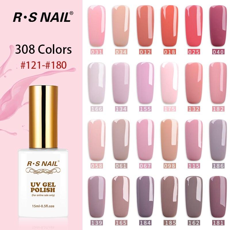 RS ongle 15ml 308 couleurs gel vernis à ongles français manucure NAIL art un ensemble de gel vernis gel laque uv résine unhas de gel (3)