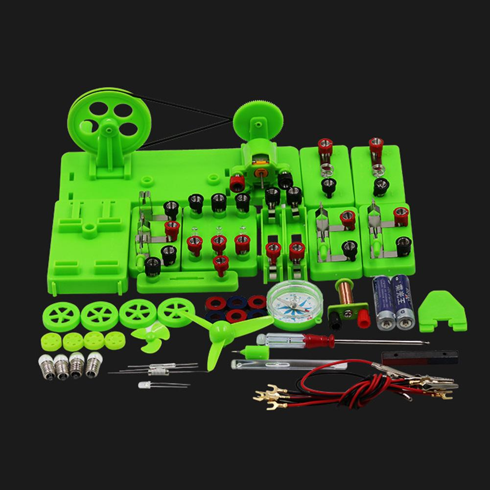 Student Physics Lab Electricity Circuit Magnetism Experiment Kit Learning Supply Kids Educational Toys for Children Gift