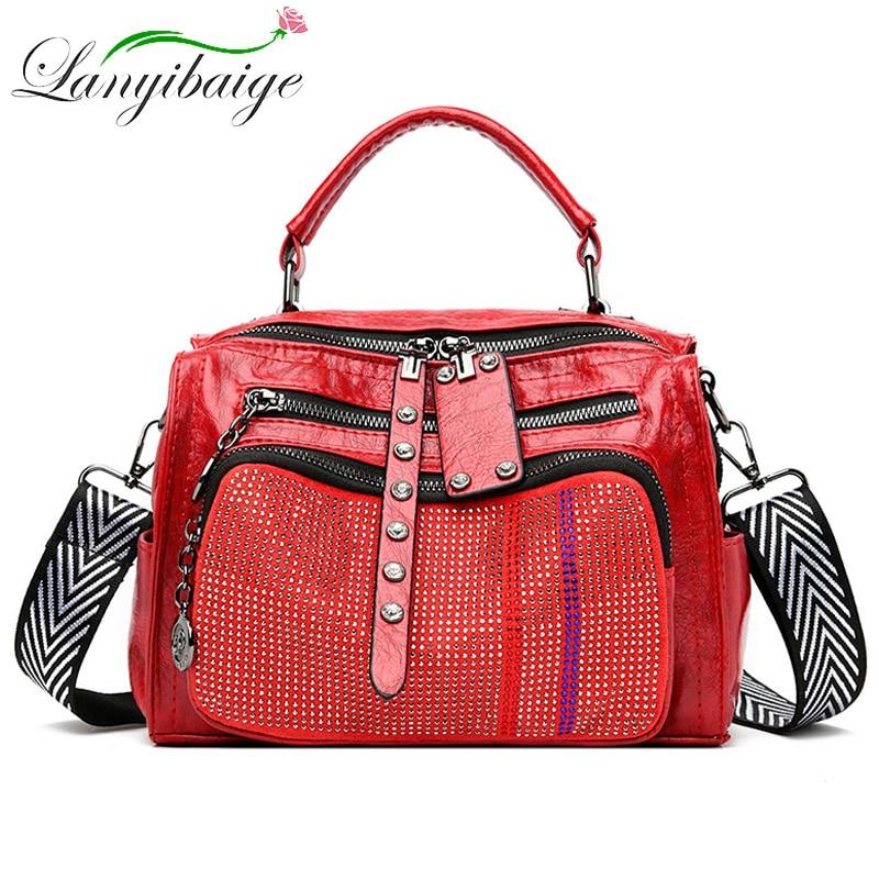 2020 New Pu Women   Leather Shoulder Tote Bag Fashion Female Large Leisure Nubuck Casual Handbag Travelling Top handle Bags