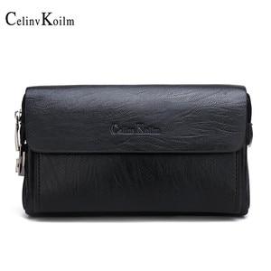 Celinv Koilm, роскошные брендовые клатчи на каждый день, сумки для мужчин, сумки для телефона и ручки, высокое качество, Spilt, кожаные кошельки, ручн...