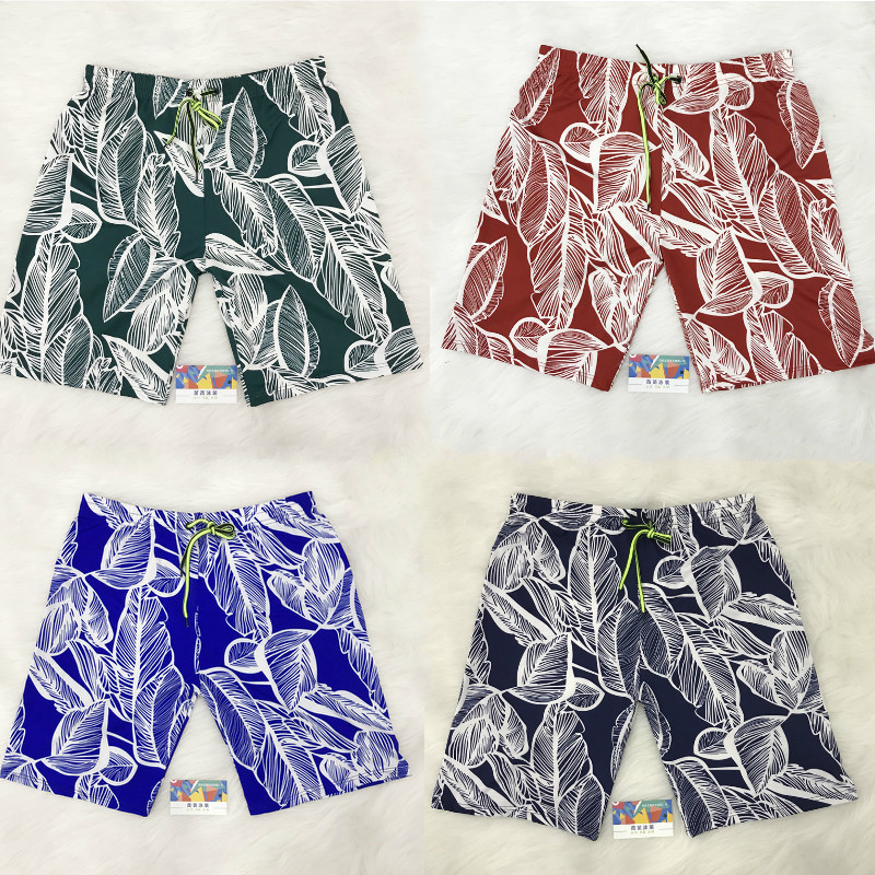 Loose-Fit Popular Brand Beach Shorts Men's Quick-Dry Shorts Bubble Hot Spring Pants Can Be Spray Trunks Seaside Holiday Short Sw