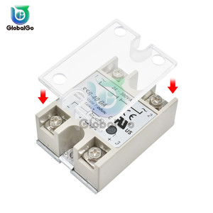 2pcs/Lot Solid State Relay SSR Plastic Cover DC control Single Phase Solid State Relay Safe Shell Case Box Front Cover(China)