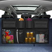 Backseat Car Organizer Storage bag SUV Net Mesh Stowing Tidying Floding Pockets Auto Interior Accessories