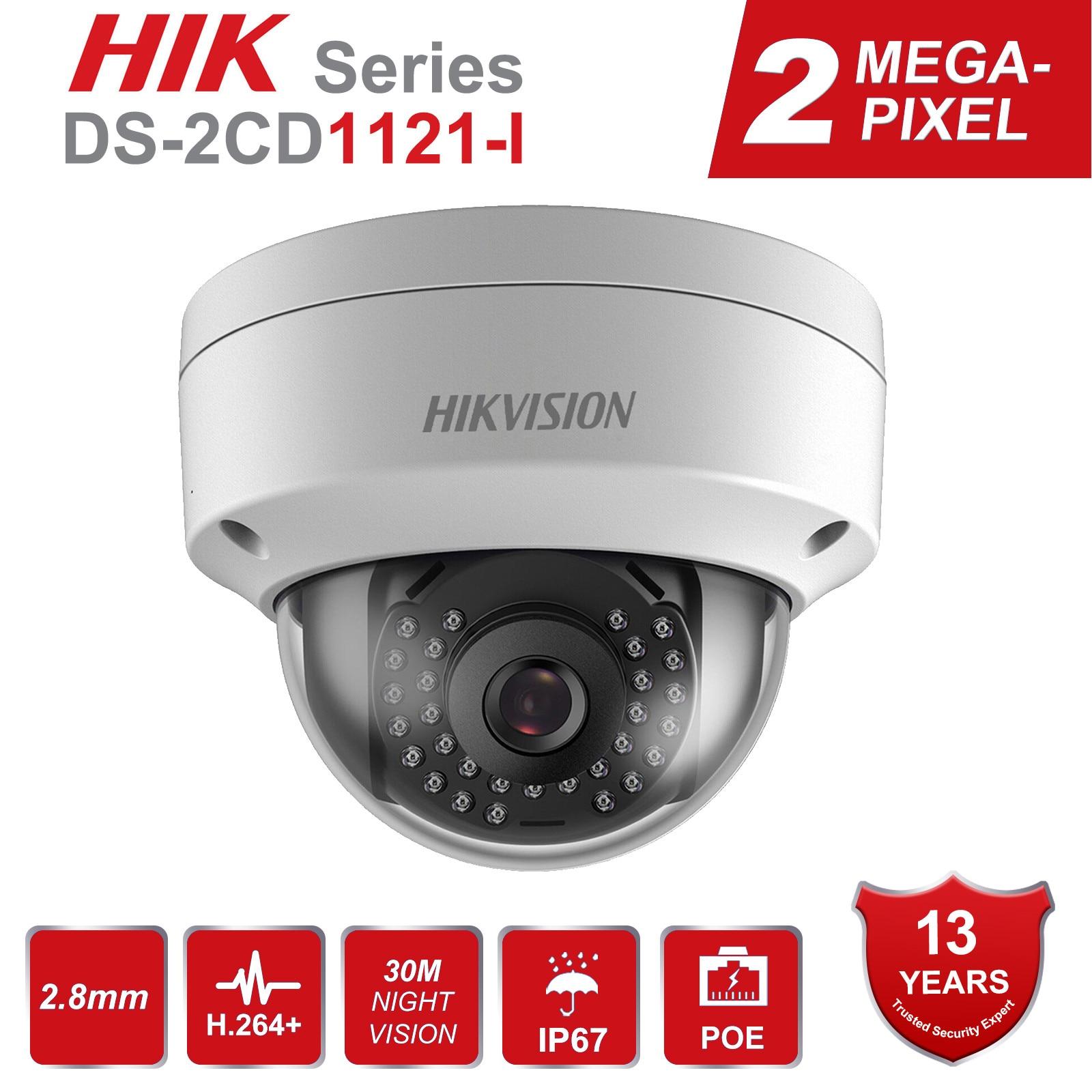 Hikvision 2MP PoE IP Camera DS-2CD1121-I & DS-2CD1123G0-I 1080P Security Dome Video Surveillance Camera Ru Stocks