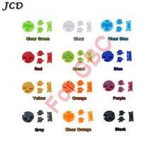 JCD 10 ensembles/lot boutons de mise sous tension en plastique claviers pour Gameboy couleur GBC boutons colorés pour GBC D Pads A B boutons